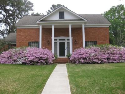 House with azaleas