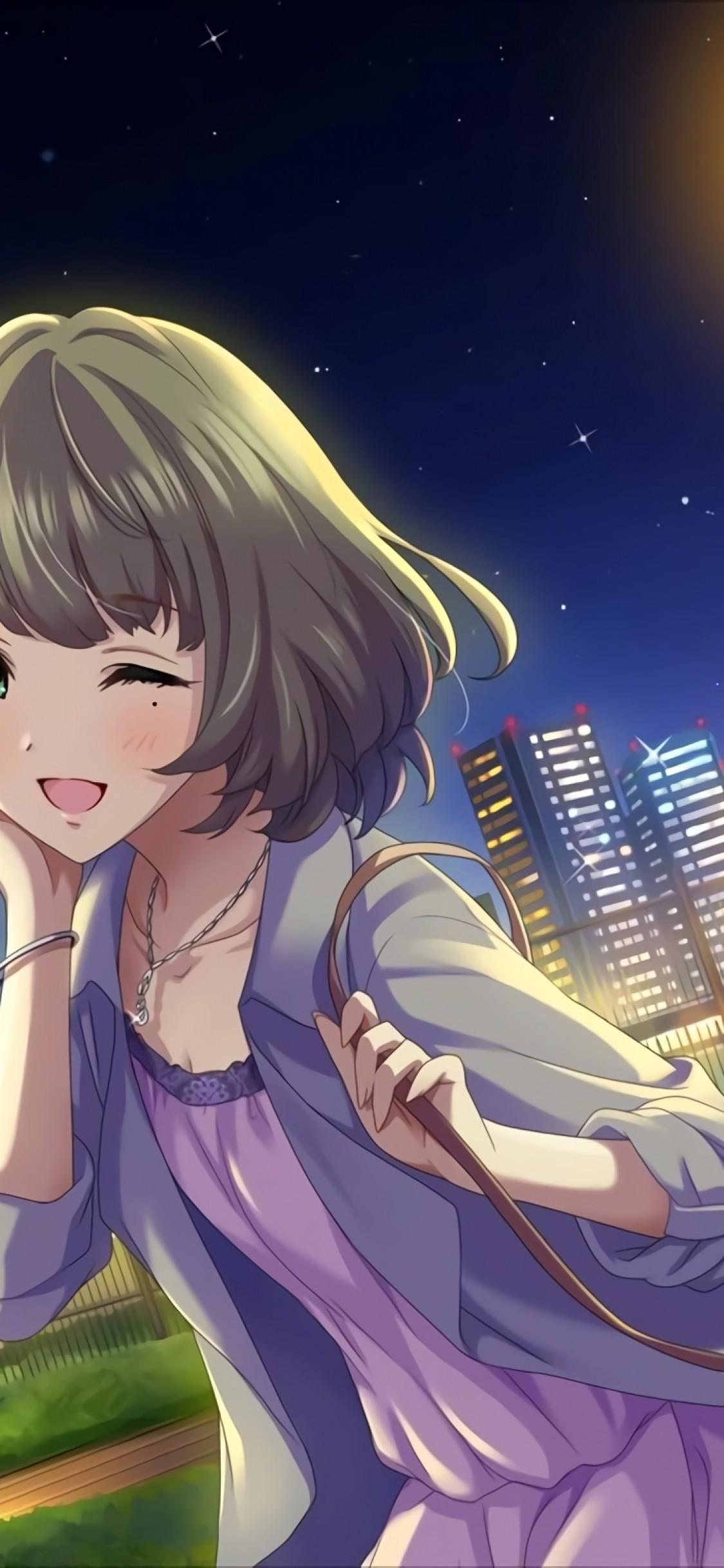 Sad Smile Girl Wallpaper صور انمي خلفيات رائعة لهواتف الآيفون Iphone X Anime عالم