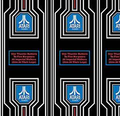 Atari Empire Strikes Back Flight Yoke Decal