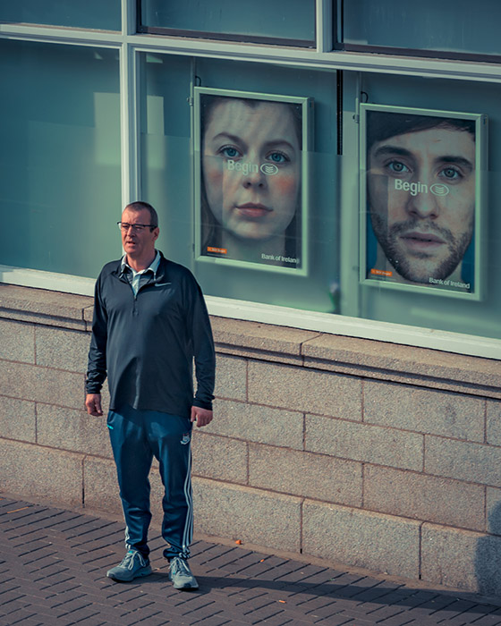 Man on Dublin street - Street Photography
