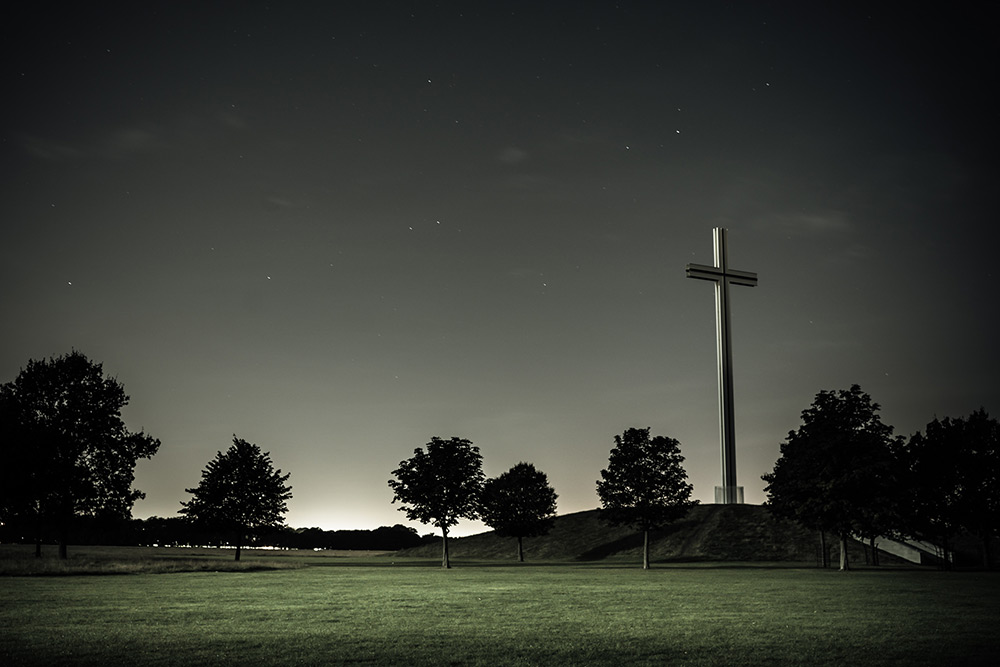 Phoenix Park Cross at night - Dublin