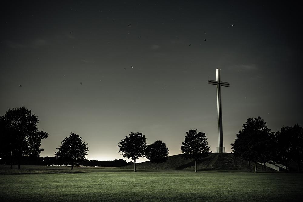 Phoenix Park Cross at night - Dublin