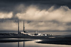 Pigeon House Poolbeg Chimneys Dublin photo print