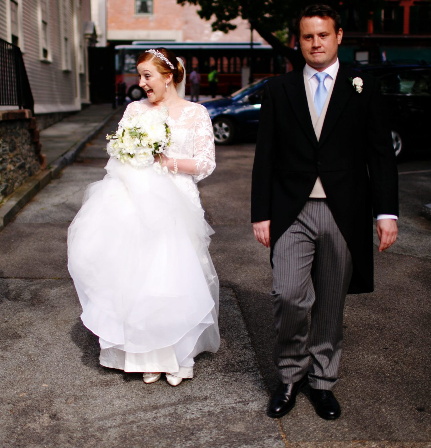 A Summer Wedding at Trinity Church, Newport RI. And all permeated with a British flair!