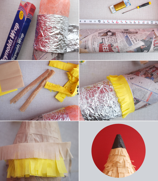 pencil pinata DIY