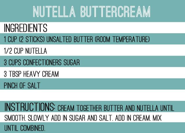 nutella buttercream