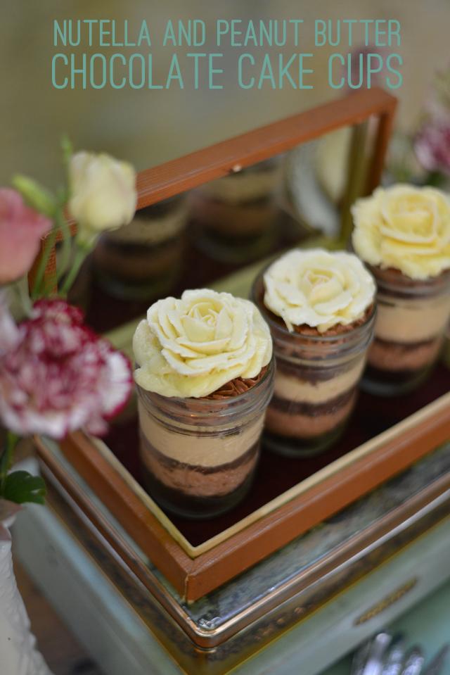 nutella cake cups