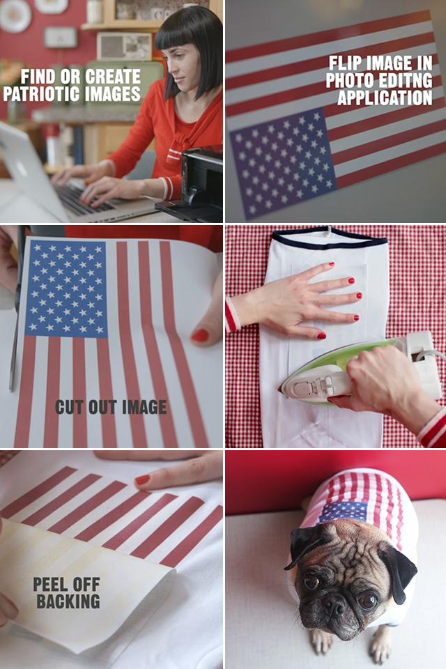 DIY Patriotic Dog Shirts
