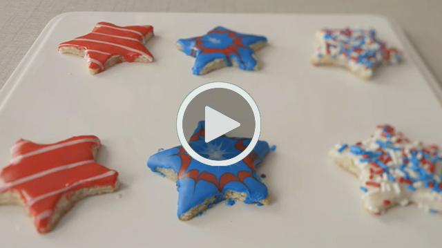DIY Video Patriotic Cookies