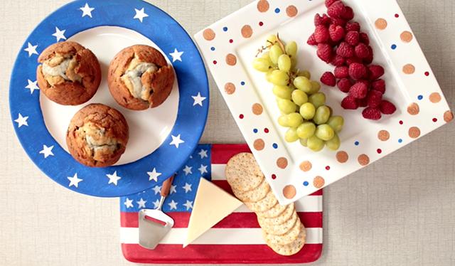 Patriotic Cake Plates