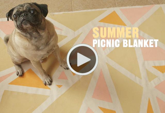 Summer Picnic Blanket DIY Video