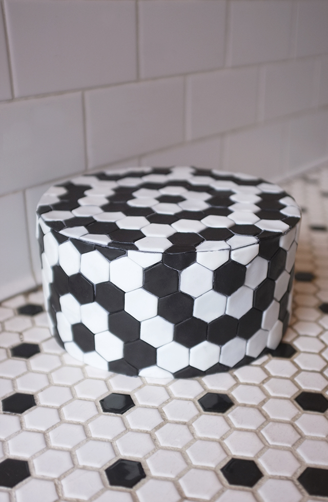 Alana Jones Mann Hexagon Tile Cake