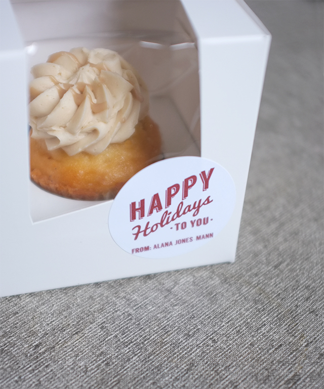 Cupcake with Label