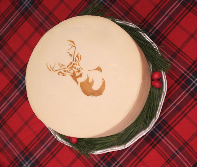 Stencil1 Deer Cake