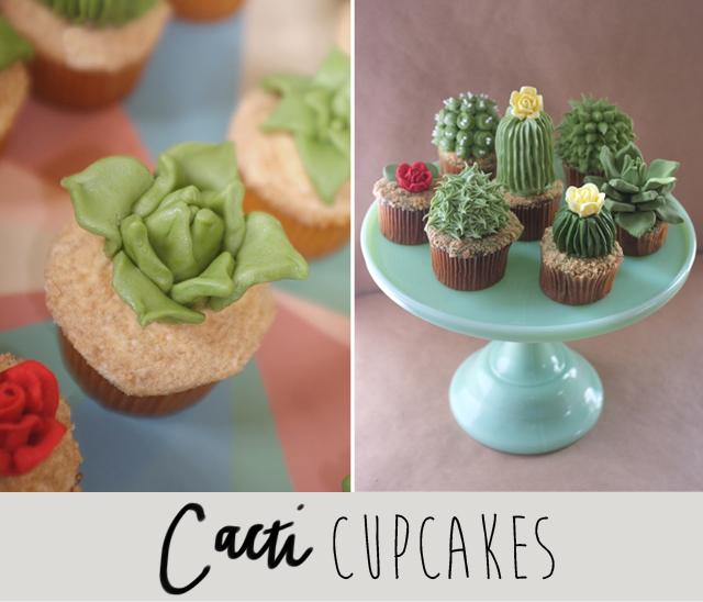 cacti cupcakes