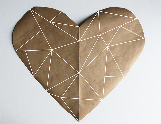 Geometric Heart Stained Glass DIY-1