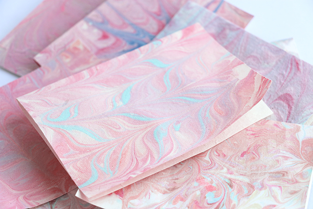 DIY Marbled Cards