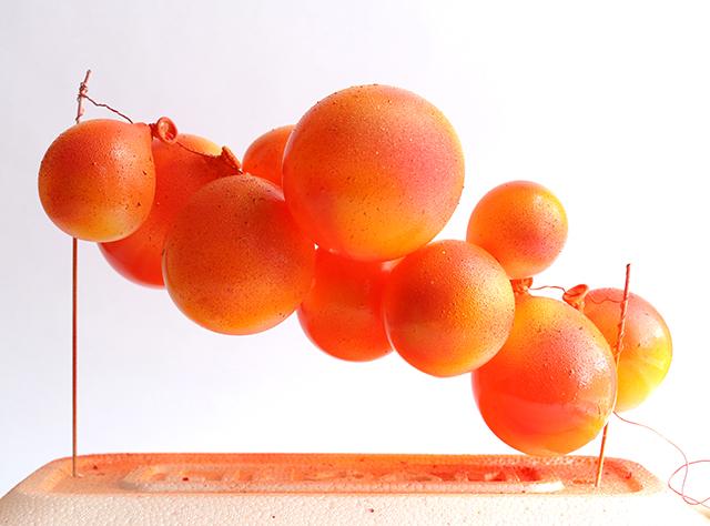 Orange Balloon Topper