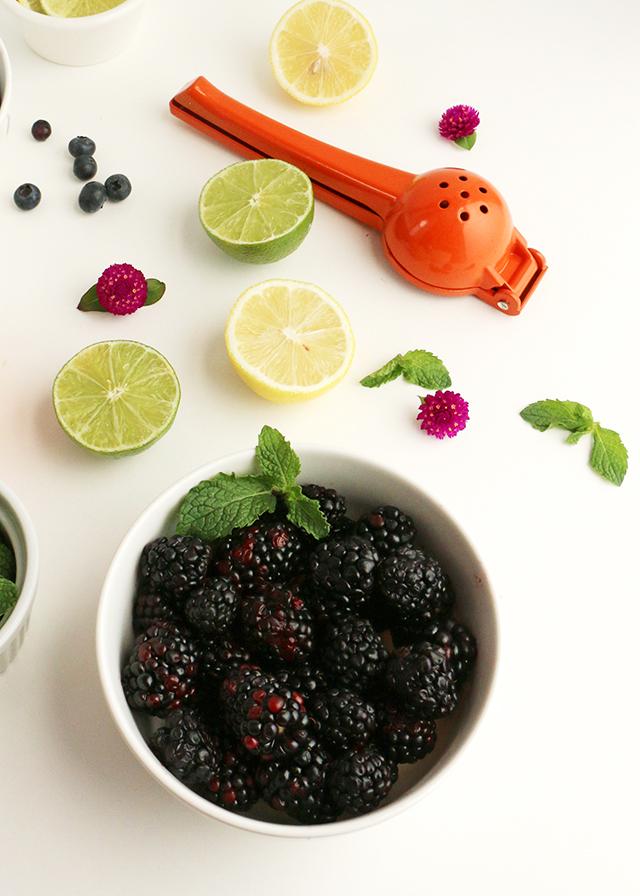 Blackberry Vodka Cocktail Prep