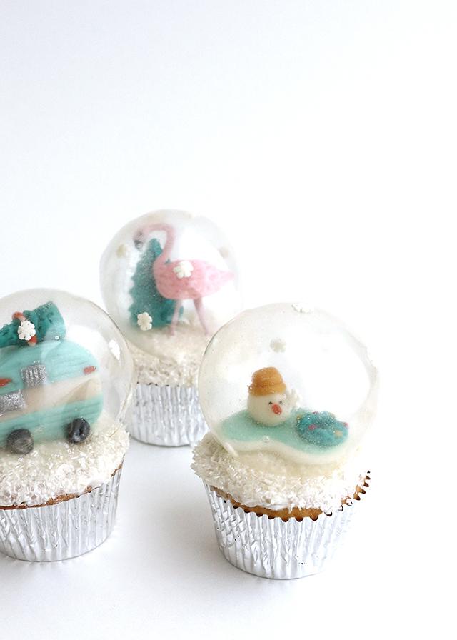 Snowglobe Cupcakes