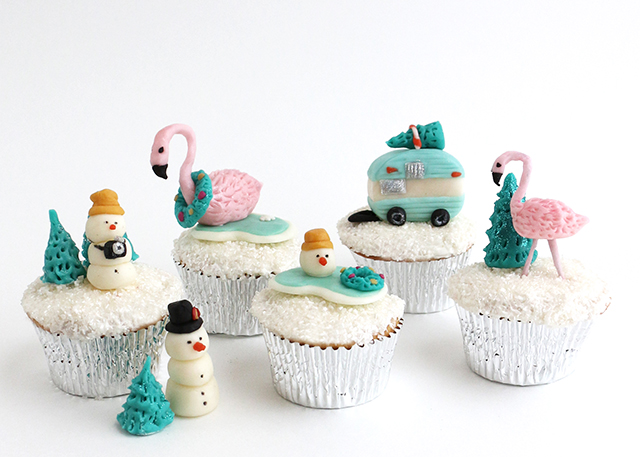 Tropical Holiday Cupcakes-Wide