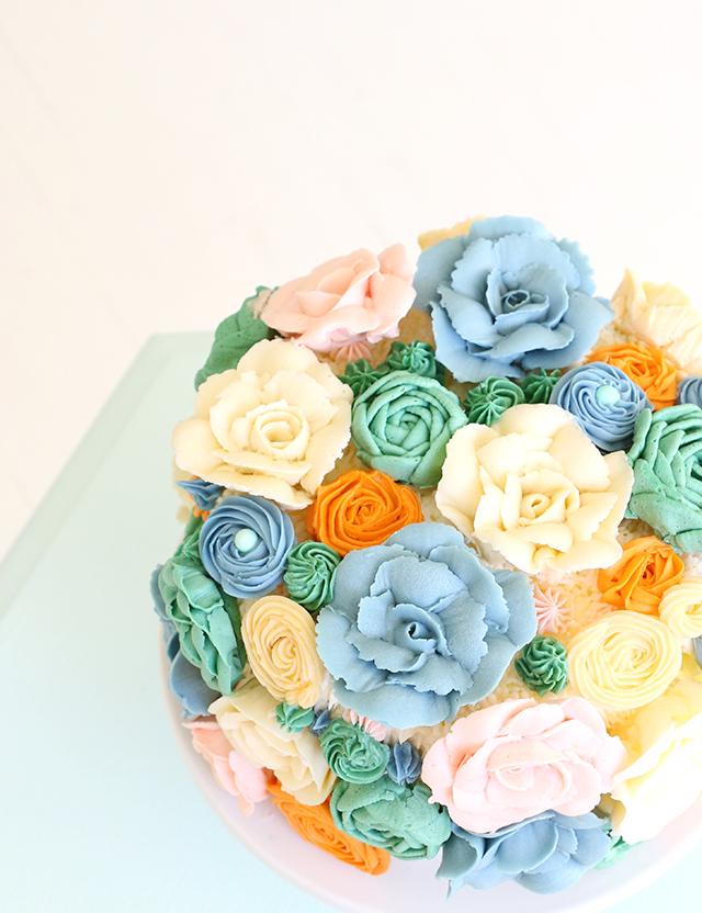 Spring Buttercream Cake