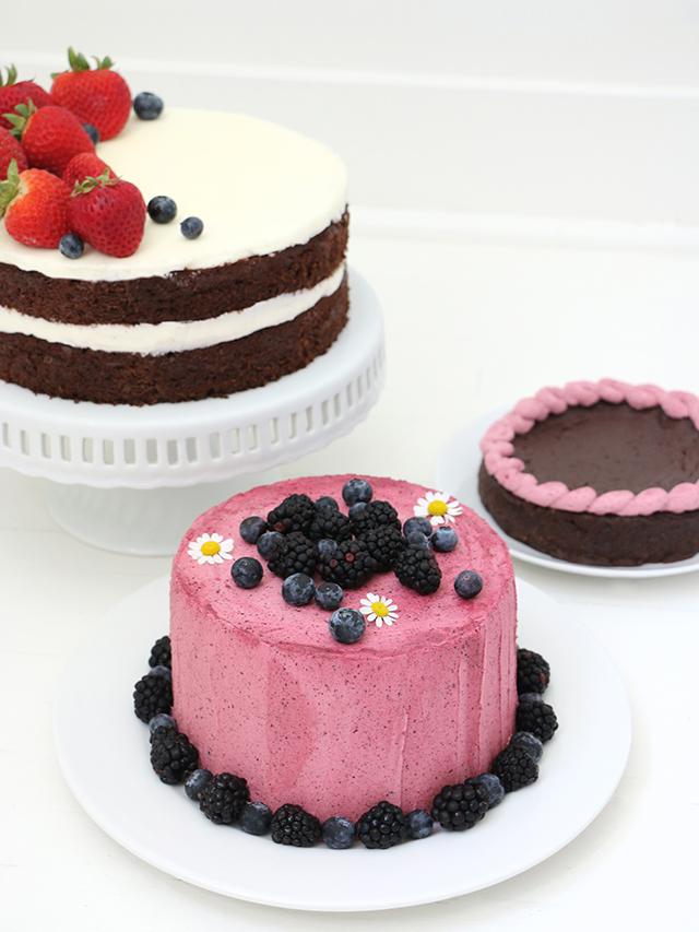 Blueberry Buttercream Cake