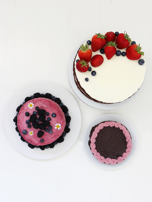 Blueberry Buttercream Cakes 2
