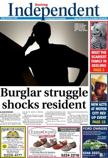 Burglar struggle shocks resident