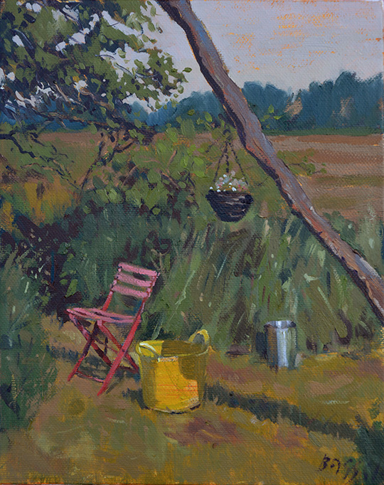Garden Still Life, oil on canvas 8 x 10 inches