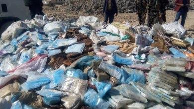 Photo of إتلاف اكثر من 3 ألف كيلو جرام من الحشيش المخدر بمأرب