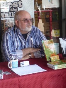 At a book signing event
