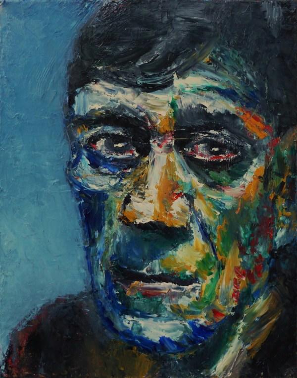 Portrait Of Oskar Kokoschka Alan Derwin Art
