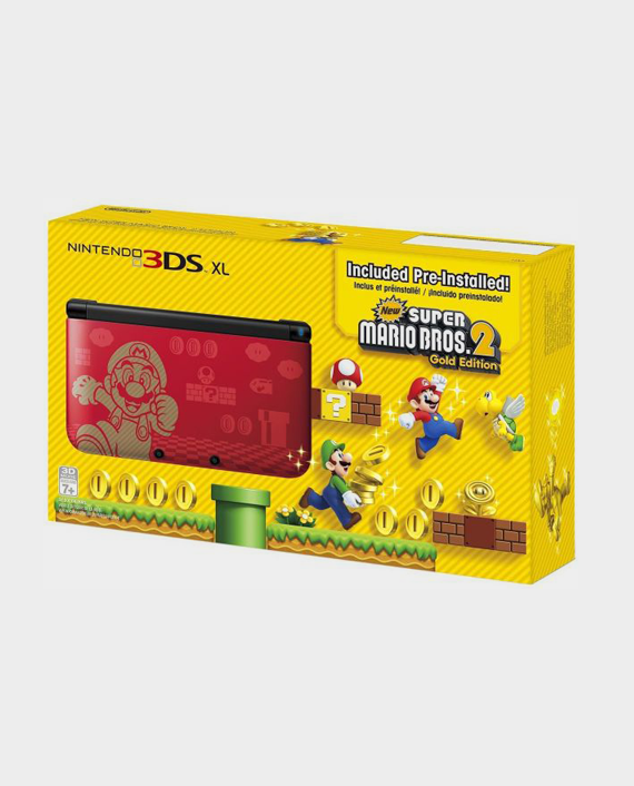 NINTENDO 3DSXL Gold Mario Bros 2 Bundle