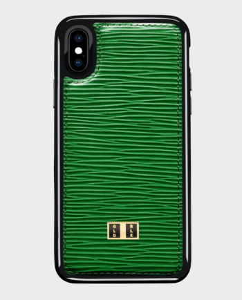 Gold Black iPhone X Case Unico Green in Qatar