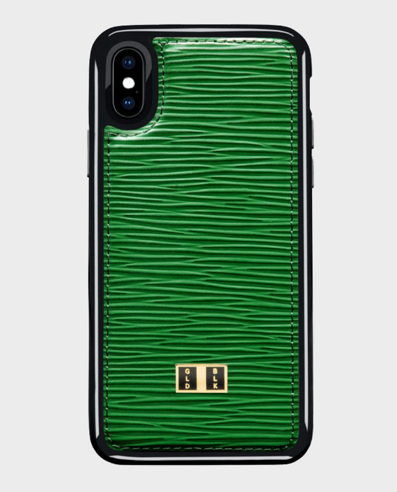Gold Black iPhone X Case Unico Green in Qatar