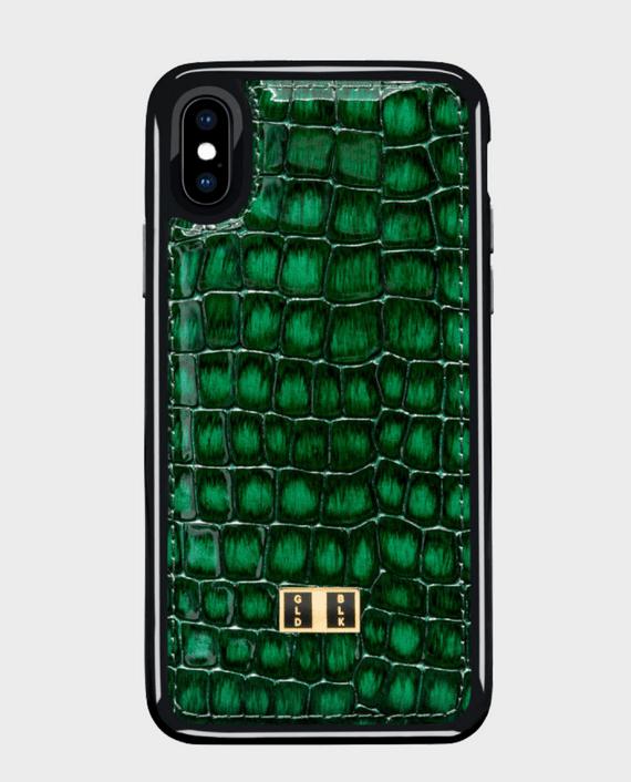 Gold Black iPhone X Case Milano Green in Qatar