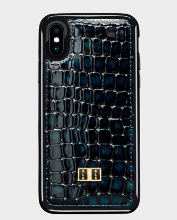 Gold Black iPhone X Case Milano Blue in Qatar
