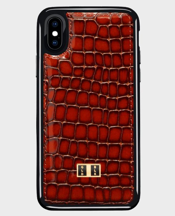 Gold Black iPhone X Case Milano Brown in Qatar