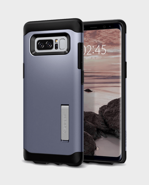 Spigen Samsung Galaxy Note 8 Case Slim Armor Orchid Gray in Qatar and Doha