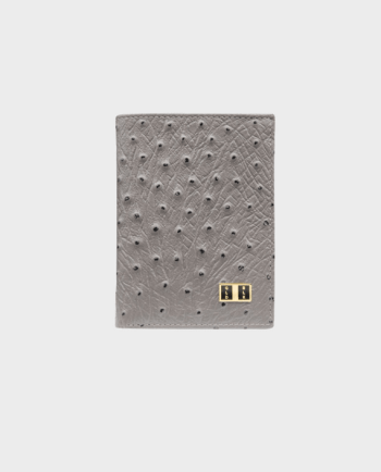 Goldblack Bifold Slim Wallet Ostrich Grey in Qatar