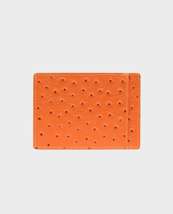 Gold Black Card Holder Bill Ostrich Orange in Qatar