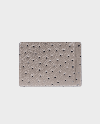 Gold Black Card Holder Bill Ostrich Grey in Qatar