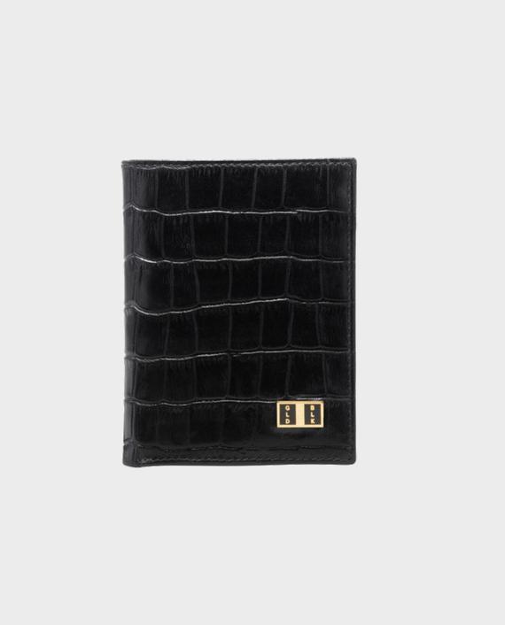 Goldblack Bifold Slim Wallet Croco Black in Qatar