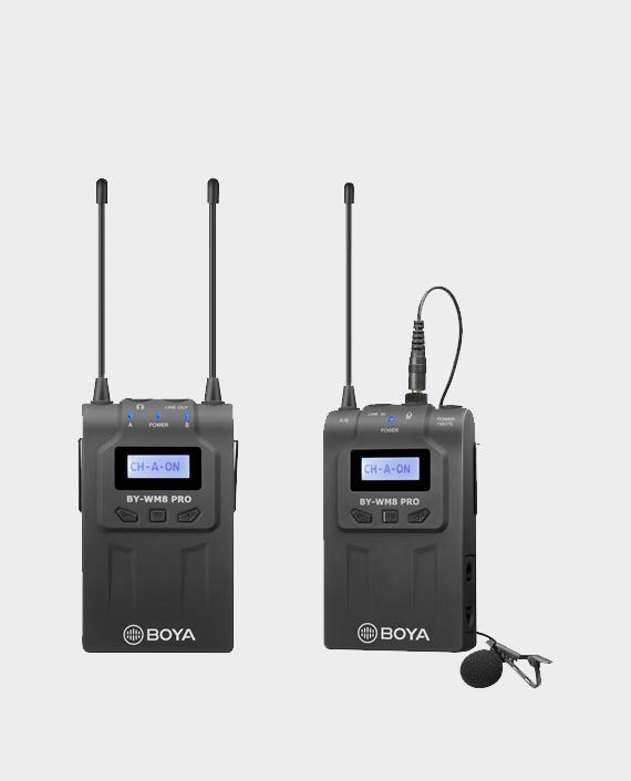 BOYA BY-WM8 Pro-K2 UHF Dual-Channel Wireless Lavalier System in Qatar