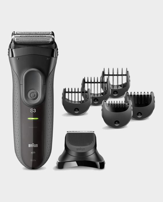 Braun Series 3 Shave&Style 3000BT Shaver with Trimmer Head and 5 Combs in Qatar