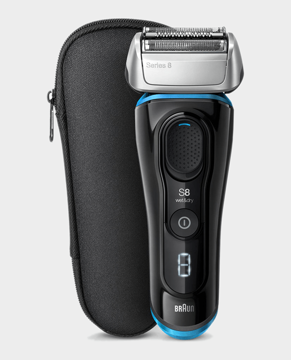 Braun Series 8 8325s Wet & Dry Shaver with Travel Case, Black - Blue in Qatar