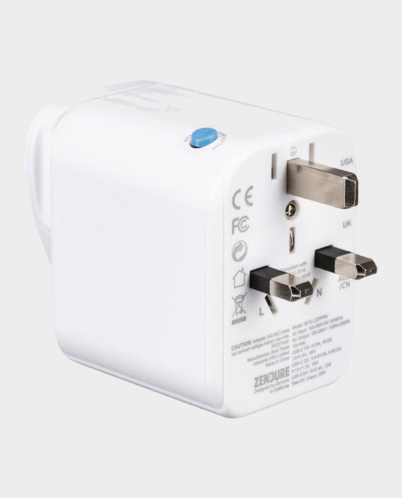 Zendure Passport Pro Travel Adapter White Price in Qatar