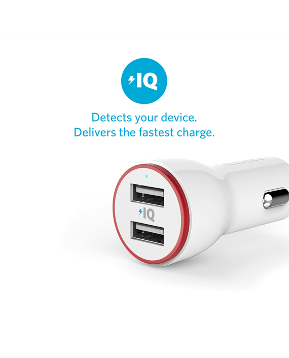 Anker PowerDrive 2 Car Charger White