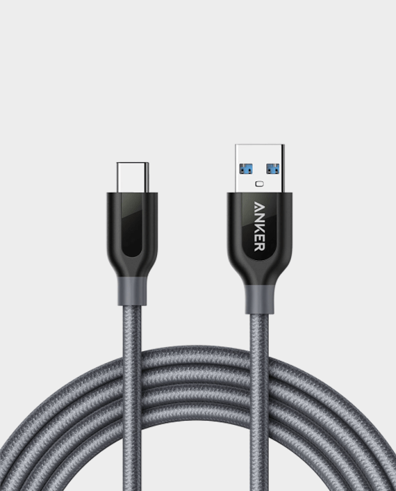 Anker PowerLine+ USB-C to USB 3.0 6ft Cable Gray in Qatar